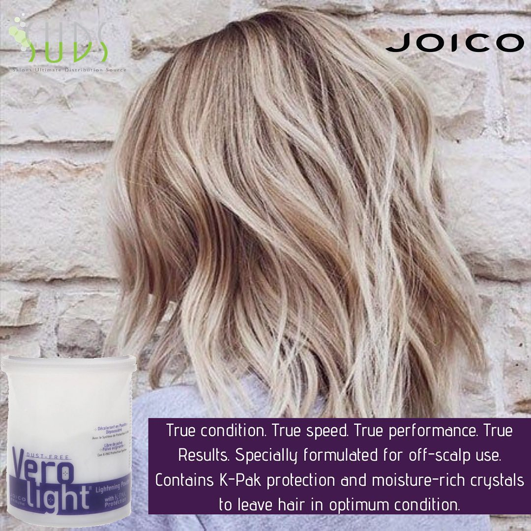The Joico Dust-Free Vero Lightning powder has so many great benefits!⁠⠀ -Lifts up to 8 levels⁠⠀ -Contains K-PAK Keratin …