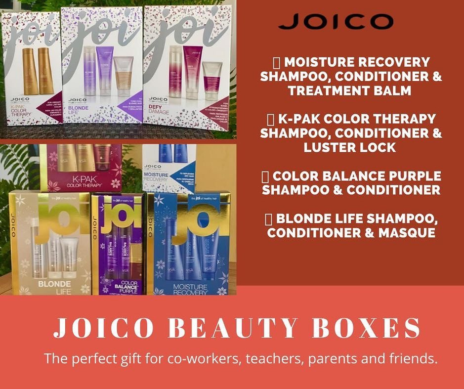 We have the PERFECT gift idea for parents, teachers and co-workers! Our Joico Christmas boxes will be the perfect way to…