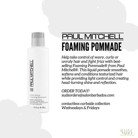 Tame frizz and style curls with Paul Mitchell's styling pommade….