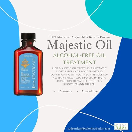 Try Luxe Majestic Oil Treatment for hair so smooth, shiny and strong it'll take your breathe away….