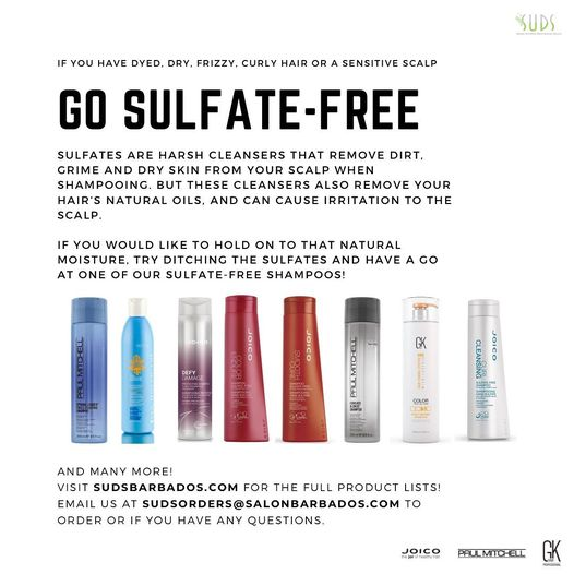 Protect the moisture in your hair by switching to one of our many sulfate-free shampoos! Great for dry, dyed or curly ha…